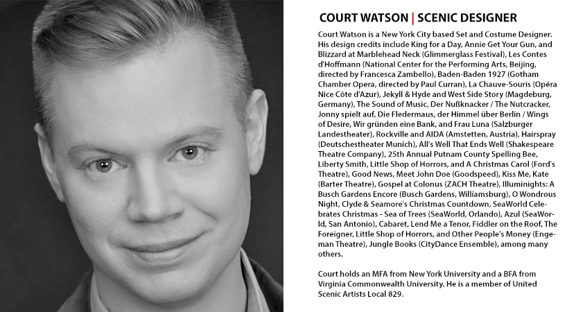Court Watson | Set and Scenic Designer